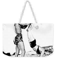 Weekender Tote Bag featuring the photograph Clash By Night With Marilyn Monroe by R Muirhead Art
