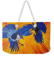 Clash Of Wings Weekender Tote Bag