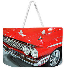 Classic 61 Impala Car Weekender Tote Bag