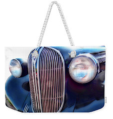 Classic Car Grill 1938 Plymouth Weekender Tote Bag by Ann Powell