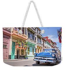 Classic Car In Havana, Cuba Weekender Tote Bag