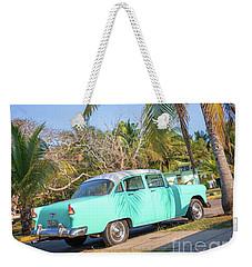 Classic Car In Playa Larga Weekender Tote Bag