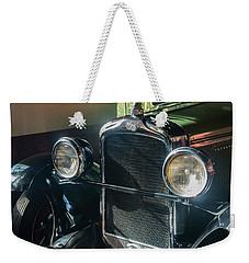 Weekender Tote Bag featuring the photograph Classic Car Museum, Asheville, Nc by Richard Goldman