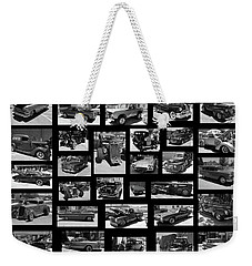 Weekender Tote Bag featuring the photograph Classic Cars And Trucks by Angie Tirado