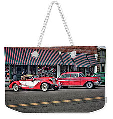 Classic Cars At Tollys Weekender Tote Bag