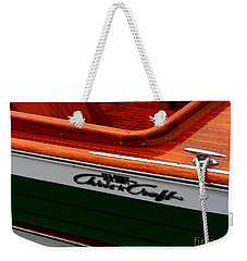 Classic Chris Craft Sea Skiff Weekender Tote Bag