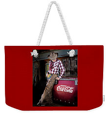 Weekender Tote Bag featuring the photograph Classic Coca-cola Cowboy by James Sage
