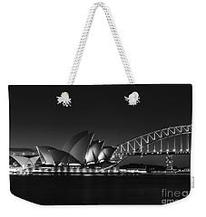 Classic Elegance In Bw Weekender Tote Bag