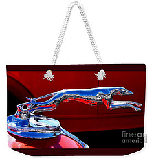Classic Ford Greyhound Hood Ornament Weekender Tote Bag by Patricia L Davidson