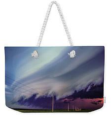 Classic Nebraska Shelf Cloud 028 Weekender Tote Bag