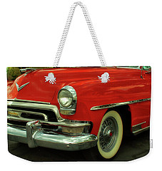 Classic Red Chrysler Weekender Tote Bag