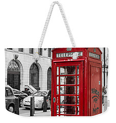 Red Telephone Box In London England Weekender Tote Bag