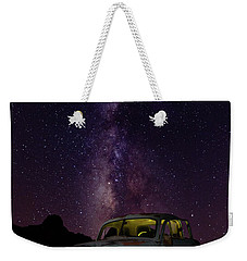 Classic Truck Under The Milky Way Weekender Tote Bag