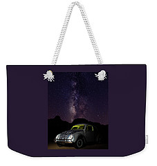 Weekender Tote Bag featuring the photograph Classic Vw Bug Under The Milky Way by James Sage