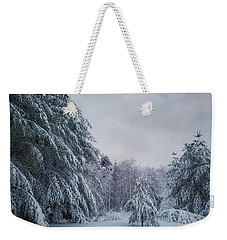 Classic Winter Scene In New England  Weekender Tote Bag