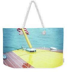Classic Wooden Boat Stern With Flag 2.0 Weekender Tote Bag