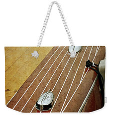 Classic Wooden Boat With Pinstripes Weekender Tote Bag