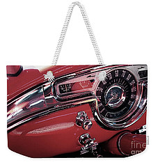 Weekender Tote Bag featuring the photograph Classics Dashboard by Mariella Wassing