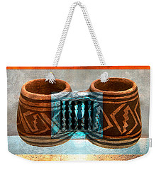 Weekender Tote Bag featuring the digital art Classsic Designs Of The Southwest by David Lee Thompson