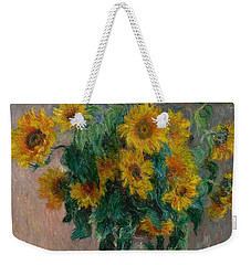 Claude Monet - Bouquet Of Sunflowers - 1881.. Weekender Tote Bag