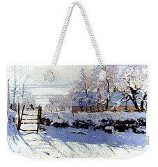 Claude Monet The Magpie - To License For Professional Use Visit Granger.com Weekender Tote Bag
