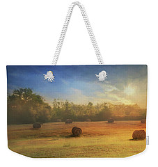 Weekender Tote Bag featuring the photograph Clayton Morning Mist by Lori Deiter