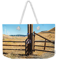 Clean Power And Old Ranch Gates Weekender Tote Bag