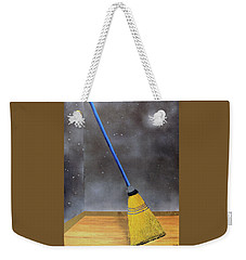 Weekender Tote Bag featuring the painting Cleaning Out The Universe by Thomas Blood