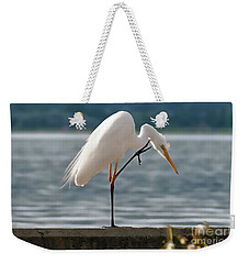 Cleaning White Egret Weekender Tote Bag