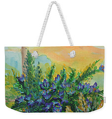 Weekender Tote Bag featuring the painting Cleansed by Holly Carmichael