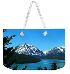 Clear Blue Lower Two Med Lake Weekender Tote Bag