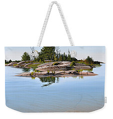 Weekender Tote Bag featuring the painting Clear Contentment by Kenneth M Kirsch