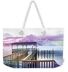 Clouds On Clear Lake Weekender Tote Bag by Kathy Kelly