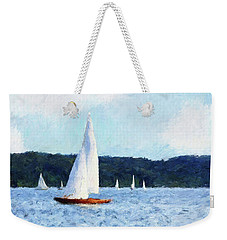 Clear Sailing Weekender Tote Bag by Shirley Stalter