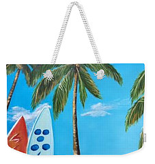 Clear Sky Let's Surf Weekender Tote Bag