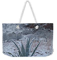 Clearing Desert Snowstorm Weekender Tote Bag