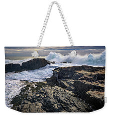 Weekender Tote Bag featuring the photograph Clearing Storm At Bald Head Cliff by Rick Berk