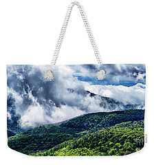 Weekender Tote Bag featuring the photograph Clearing Storm Highland Scenic Highway by Thomas R Fletcher