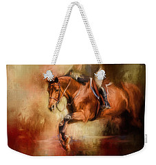 Clearing The Jump Equestrian Art Weekender Tote Bag