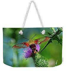 Clearwing Hummingbird Moth Weekender Tote Bag
