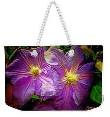 Clematis Azure Pearl Weekender Tote Bag