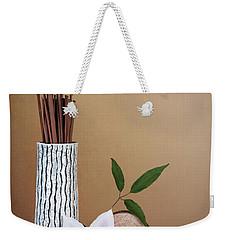 Clematis Flower Still Life Weekender Tote Bag by Tom Mc Nemar