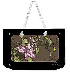 Clematis Weekender Tote Bag by Jodie Marie Anne Richardson Traugott          aka jm-ART