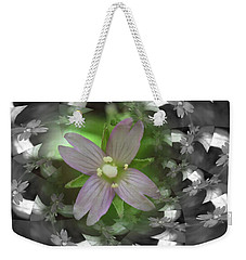 Weekender Tote Bag featuring the photograph Clematis by Keith Elliott