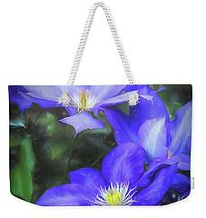 Clematis Weekender Tote Bag by Linda Blair