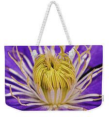 Clematis Macro Weekender Tote Bag