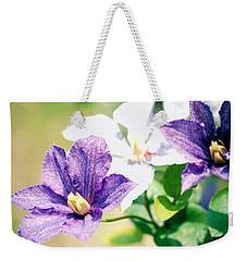 Clematis Weekender Tote Bag by Rachel Mirror