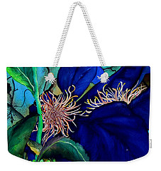 Clematis Regal In Purple And Blue Sold Weekender Tote Bag