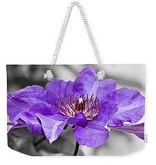 Clematis Weekender Tote Bag by Scott Carruthers