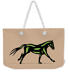 Clementine - Pop Art Horse - Black, Geenery, Hazelnut Weekender Tote Bag